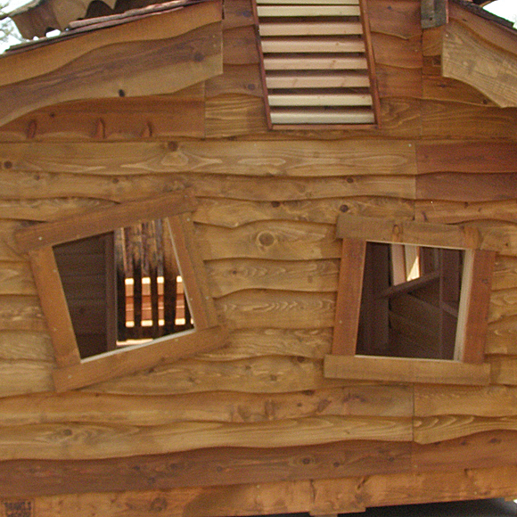Playhouse with Live Edge Siding